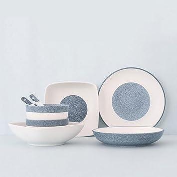 geschirr underglaze keramik geschirr nachahmung stein muster glasur porzellan set 8 stck der ausrstung fr 2 - Geschirr Muster
