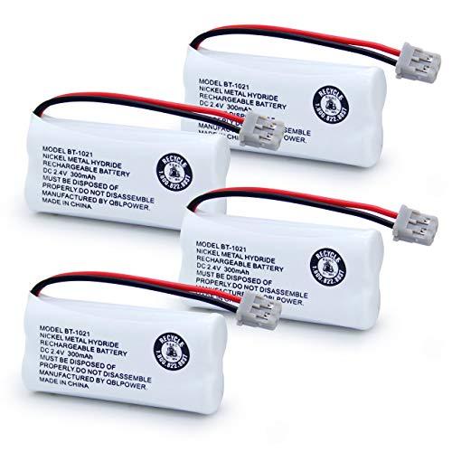 QBLPOWER BT1021 BT-1021 BBTG0798001 BT-1008 BT-1016 BT-1025 Cordless Phone Battery Nickel Metal Hydride DC 2.4V 300mAh Rechargeable(Pack of 4)