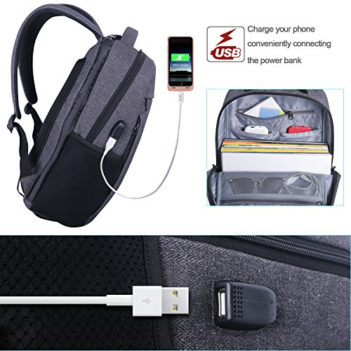 343041d57cf LAPACKER 12-15.6 Inch Lightweight Business rechargeable backpack for ...