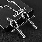 HZMAN Ankh Cross Stainless Steel Horus Eye Pendant
