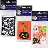 Arts & Crafts : 40pcs Clear Halloween Jack-O-Lantern Flat Cello/Cellophane/Loot Treat Zip Seal bags 3.75x 5.75