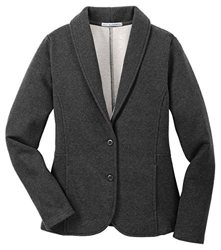 port-authority-ladies-fleece-blazerxl-dark-charcoal-heather-l298
