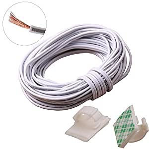 Amazon.com: 20m(66ft) 20Awg 2Pin Extension Cable Wire Cord Line for ...