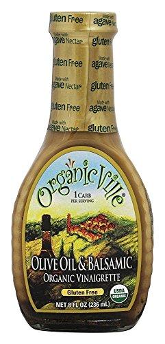 Organicville, Olive Oil and Balsamic Salad Dressing, 8 oz - Olive Oil Salads