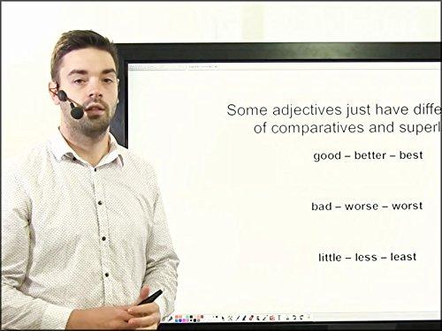 English Lesson 8 - Adjectives. Comparative and Superlative Adjectives. Colours. (A1 Colour)