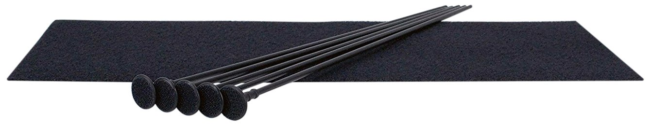 Gun Storage Solutions 5 Rifle Rods Starter Kit Pack of 5 Rifle Rods Starter Kit with Loop Fabric (8 x 19), Black