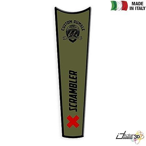 Paraserbatoio Adesivo 3d Verde Rosso Ducati Scrambler 800 Urban