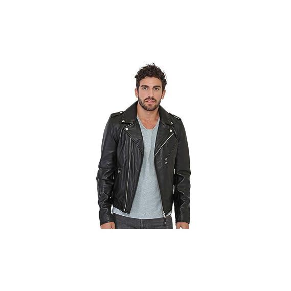 b93c53b785c Schott NYC Men s Plain Long Sleeve Jacket black black  Amazon.co.uk ...