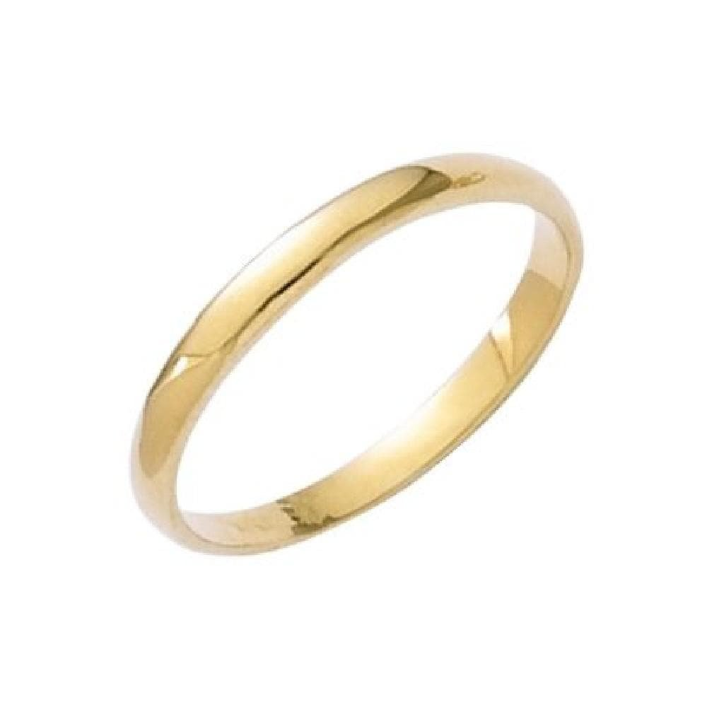 So Chic Jewels 18k Gold Plated 2 mm Wide Wedding Band Ring