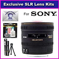 Sigma 4.5mm f/2.8 EX DC HSM Circular Fisheye Lens For Sony DSLR-A200 A300 A350 A100 A700 A700 A900 A230 A330 A750 Includes 7 Year Warranty + Extras