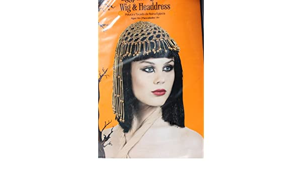 Amazon.com : Cleopatra Wig with Beaded Headpiece Costume Accessory : Hair Replacement Wigs : Beauty