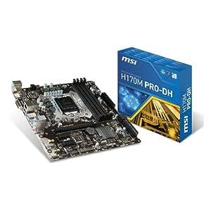 MSI 7982-001R - Tarjeta gráfica (H170M Pro-DH mATX Intel H170 DDR4 ...