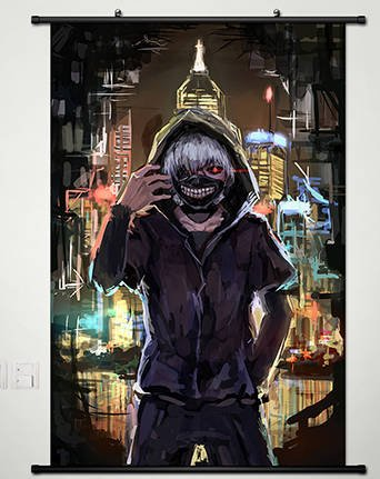 Poster Home Decor Anime Tokyo Ghoul Wall Scroll Fabric Paint