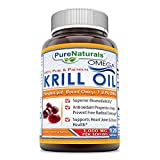 Pure Naturals 100% Pure & Premium Omega Krill 1000 Mg Per Serving 120 Soft gels – Superior Bio-availability* Antioxidant Properties Helps Prevent Free Radical Damage