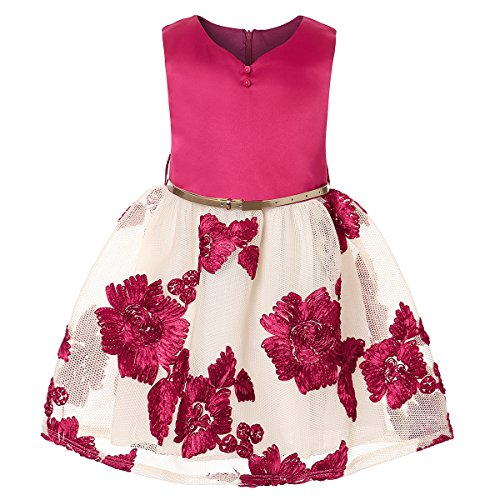 ZaH Kids Special Occasion Dress Spring Dresses for Girls Beautiful Dresses Gown (Burgundy, 7) for $<!--$19.98-->