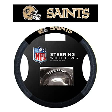One Size NFL Carolina Panthers Massage Grip Steering Wheel Cover Black