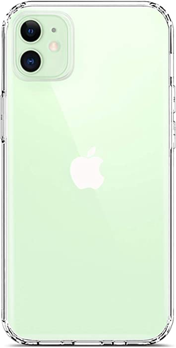 Coolwee Clear Case Compatible with iPhone 12, Compatible with iPhone 12 Pro Slim Fit Women Girls Men Clear Design Hard Back Case with Soft TPU Bumper Cover for Apple iPhone 12 Pro 6.1 inch Transparent