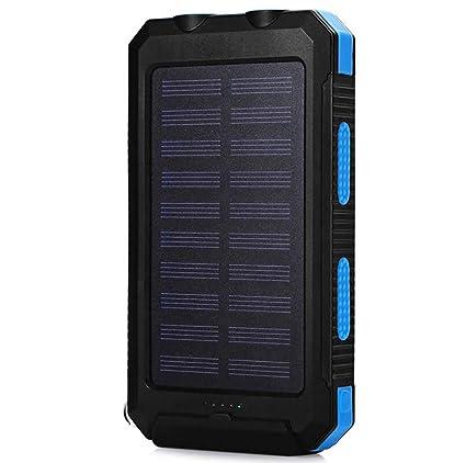 Solar Cargador,Baterìa Uso Outdoor,8000Mah con 2 USB(5V1A-2A ...