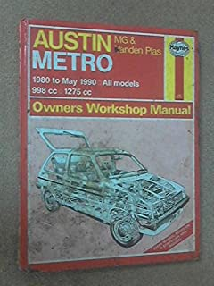 AUSTIN METRO OWNERS WORKSHOP MANUAL: 1980 TO MAY 1990, ALL MODELS, MG