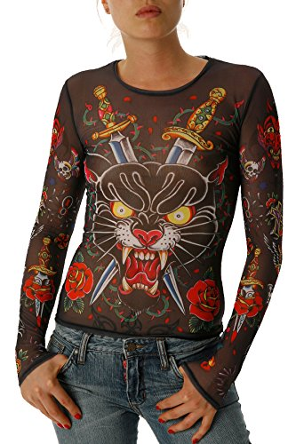 Women's Panther Rage Mesh Tattoo - And Dolce Gabbanna