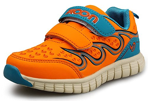 PET WITH ME Fashion Kids Double Easy on Tennis Preschool Athletic Shoes Sneaker (Toddler/Little Kid) Orange12 M US Little Kid Hot Sell.