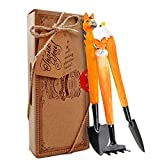 aGreatLife Gardening Hand Tool Set: Best Handcrafted Wooden Hand Tools - Includes 3 Essential Garden Tools - Sturdy, Durable and Well-Made - With an Ergonomic Design