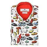 Claudio Lugli White Porsche Print Mens Shirt White Medium