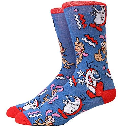 Ren & Stimpy Allover Adult Crew Socks
