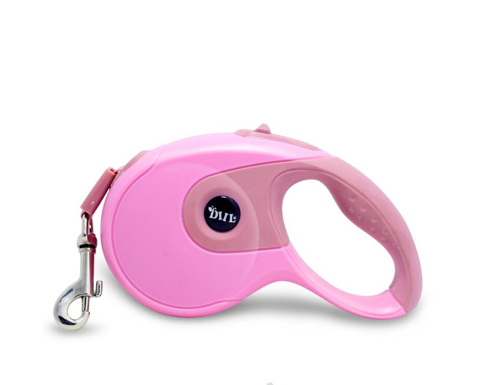 Pink Large Pink Large Retractable Dog Leash For Small Medium Dog Tangle Free Classic Cord Retractable Dog Lead QY-096