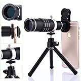 Universal 18X Zoom Clip On Mobile Phone Optical Camera Lens Kits,WMTGUBU Telescope Telephoto Lens+15X Super Macro Lens + 0.6X Wide Angle Lens for iPhone and Most Android Smartphones (Black)