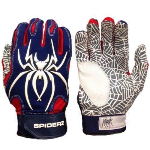 Spiderz大人用ハイブリッドバッティンググローブシリコンWeb Palm B01DOA1OSO Small|ネイビー/レッド/ホワイト ネイビー/レッド/ホワイト Small
