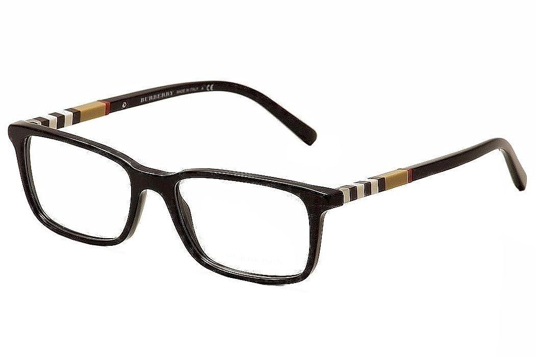 Amazon.com: Burberry Eyeglasses BE2199 BE/2199 3001 Black Full Rim ...