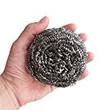 Hulless (Set of 4) Stainless Steel Sponges Scrubbers,Utensil scrubber,Metal Scouring Pads,Stainless Steel Scourer Pot Brush Kitchen Utensil Cleaning Cooking Tools,60g/pcs.