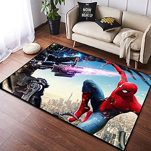 Area Rugs 3D Digital Print Superhero Graphic Carpet Living Room Bedroom Sofa Mat Door Mat Kitchen Bathroom Mat Carpet Bath Mat