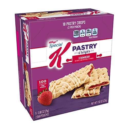 Special K Pastry Crisps, Strawberry, 7.92 oz, 18 Crisps, 2 per Pouch (9 Pouches)(Pack of 9) by Special K