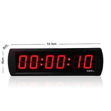 V.JUST Reloj De Pared Digital Temporizador De Cuenta Atrás De Interior De 3 Pulgadas