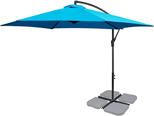 FRUITEAM 10-ft Offset Hanging Umbrella