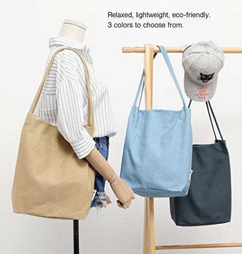 Canvas Tote Bag Handbag Shoulder Bag Purses For Men And Women (Light blue) by Jeelow (Image #2)