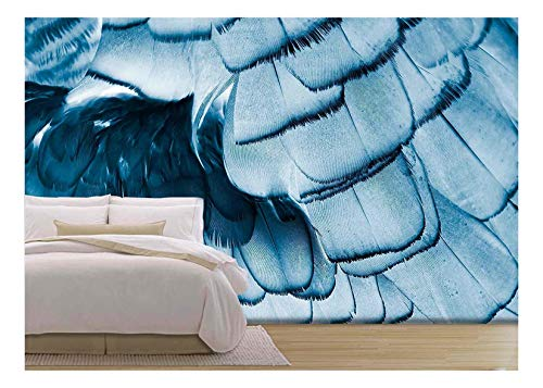 (wall26 - Bird Feather - Removable Wall Mural | Self-Adhesive Large Wallpaper - 100x144 inches)