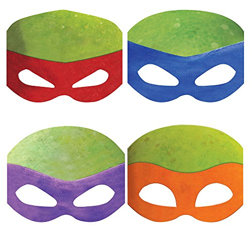 Teenage Mutant Ninja Turtles Party Masks, 8ct (Ninja Turtle Party Mask)