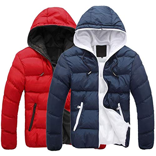 (liwei34 Winter Warm Solid Color Cotton Candy Candy Zipper Hooded Cotton Jacket)