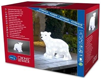 Konstsmide Medium Standing Cute Polar Bear 3D Christmas Decoration ...