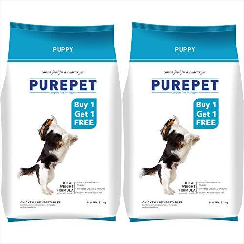 Purepet Chicken & Vegetable Puppy Dog Food, 1.1kg Buy 1 Get 1 Free