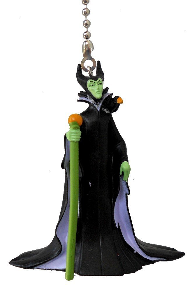 Disney Classic Disney Movie Villains Assorted Character Ceiling Fan Pull Light Chain, Maleficent the bad fairy from Sleeping Beauty