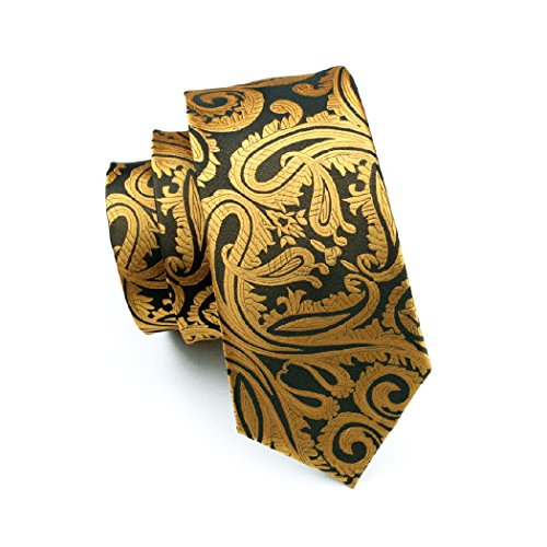 Woven Necktie Paisleys Silk N Tie 0988 Jacquard Hanky Set CAOFENVOO Men's Cufflinks qAzZ0KwxP