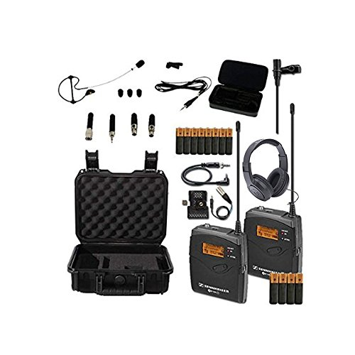 Sennheiser EW-112P G3 (B-Band) Lavalier System with Case, Headset, Headphones Bundle