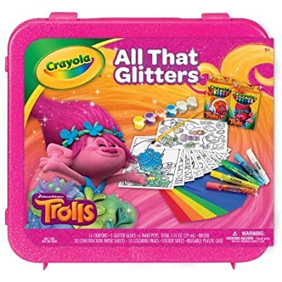 Crayola Dreamworks Trolls All That Glitters Coloring Kit: Toys & Games