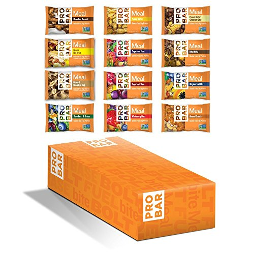Pro Meal - PROBAR - MEAL Bar - Amazon Variety - Organic Oats, Nuts, Seeds, Gluten Free, Non-GMO Project Verified, Plant-Based Whole Food Ingredients, Protein, Fiber - Pack of 12 Assorted Bars