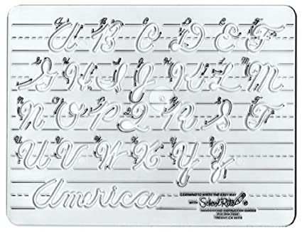 Amazon.com: School-Rite Cursive Handwritting Template, Writing Aide ...