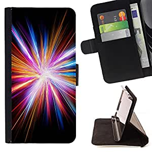 LIGHT GOD ELECTRIC RAY DISCO CITY BLACK/ Personalizada del estilo del dise???¡Ào de la PU Caso de encargo del cuero del tir????n del soporte d - Cao - For Sony Xperia Z3 D6603